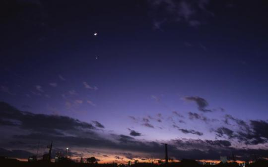 Venus can be spotted after sunset in the west.