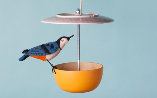 Treat your feathered friends to some snacks with a homemade bird feeder