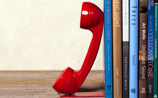 Repurpose Telephone Bookend