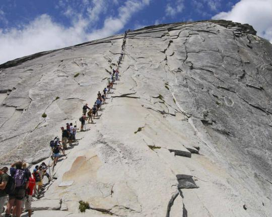 Half Dome cable hike, Yosemite National Park.