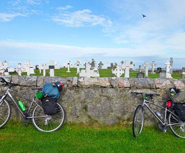 A seaside cemetery on the Scottish island of Eriskay