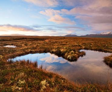 Looking across Ballycroy National Park to the Nephin Beg Mountains, which are at the heart of Ireland's first wilderness area.
