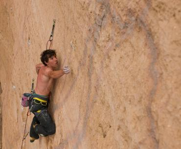 The rock star climber discusses his new foundation, sustainable development and the environment.