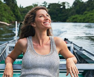 Gisele Bündchen visits Rio De Janeiro, Brasilia, and the Amazon to explore issues of drought and deforestation during Season 2 of Years of Living Dangerously.
