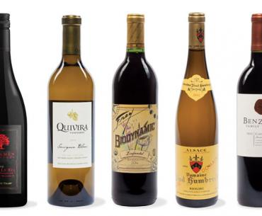 Biodynamic wines--pop the cork on some of our handpicked varietals.
