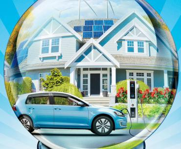 Our future: Clean energy plus smart vehicles and houses.