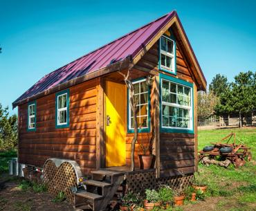 Novice carpenter Ella Jenkins built her dream house atop an 18-by-7-foot trailer.