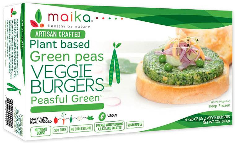 Maika Foods veggie burgers