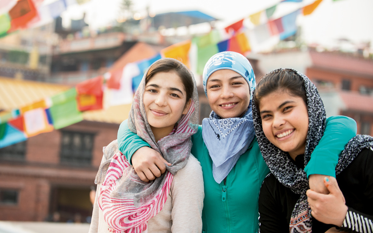 A Group of Young Afghan Women Reach New Heights Trekking in Nepal