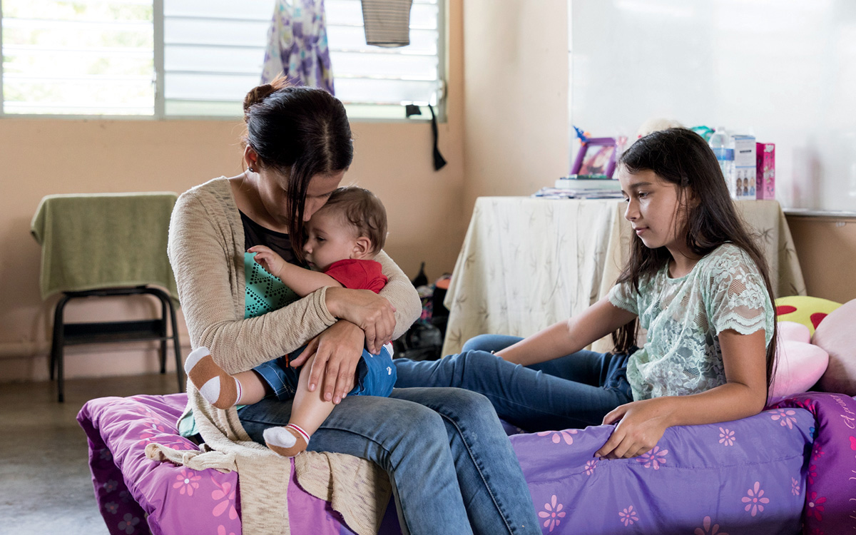 Yesenia Ramos Cintron and her family spent months in a shelter while waiting for assistance from FEMA after Hurricane Maria.