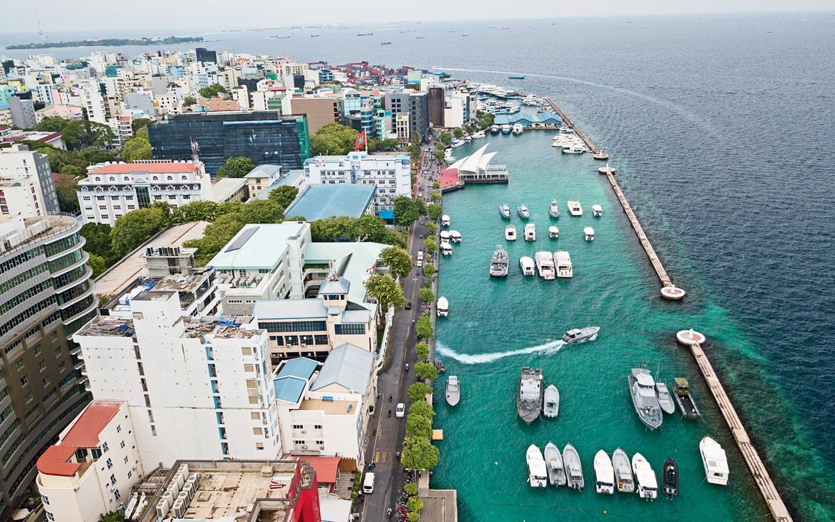 Malé's coastline