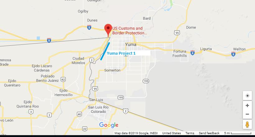 Rough Maps: Yuma 1, Yuma 2 and El Paso 1 Proposed Border ...