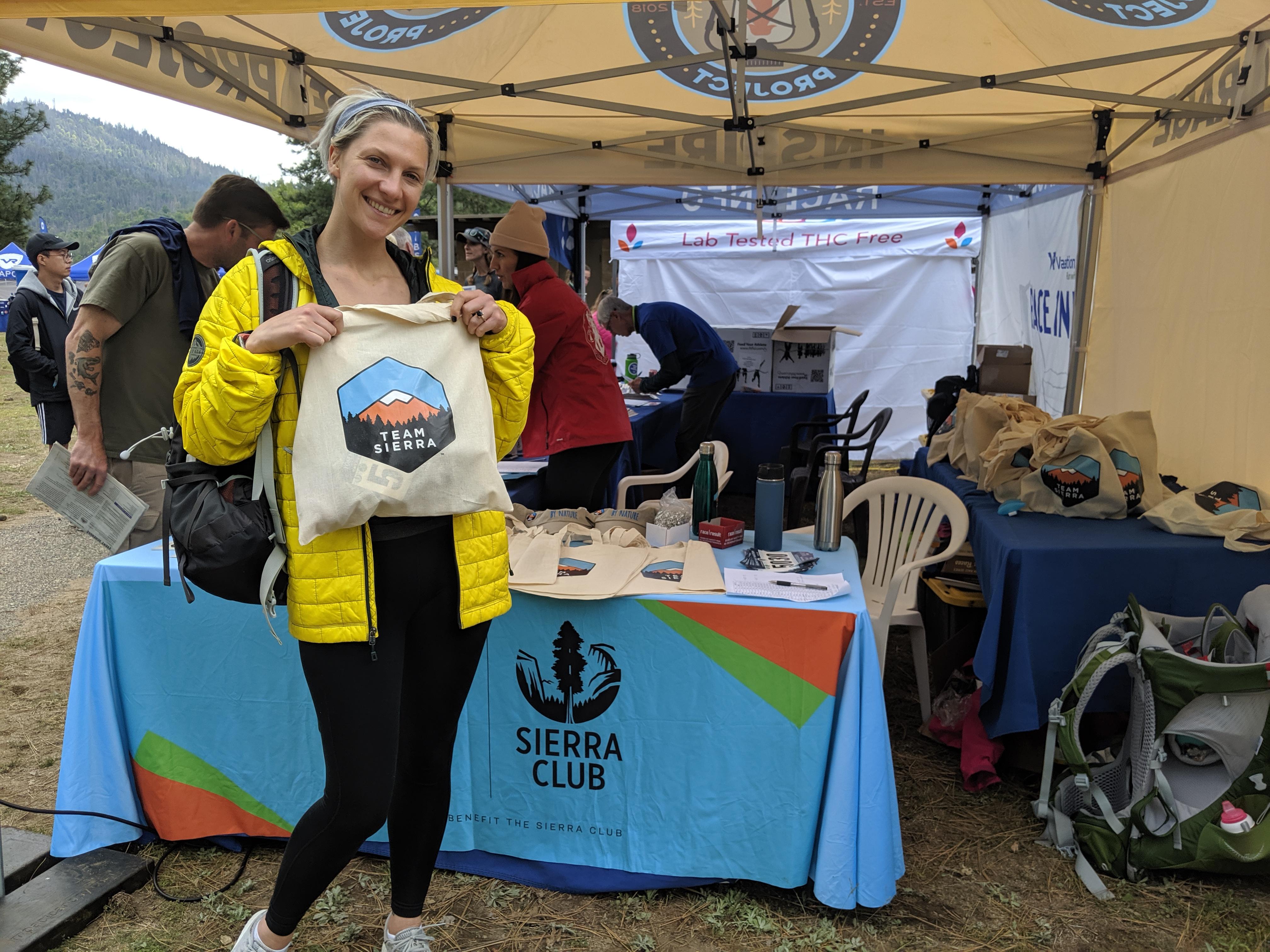 Sarah at Expo